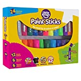 Little Brian LBPS10CMDA24 Paint Sticks Bumper Pack, 24 Assorted, Multi
