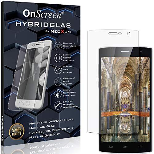 OnScreen Schutzfolie Panzerglas kompatibel mit Homtom HT7 Pro Panzer-Glas-Folie = biegsames HYBRIDGLAS, Bildschirmschutzfolie, splitterfrei, MATT, Anti-Reflex - entspiegelnd
