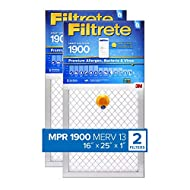 Filtrete 16x25x1 Smart Replenishable AC Furnace Air Filter, MPR 1900, Premium Allergen, Bacteria & Virus, 2-Pack