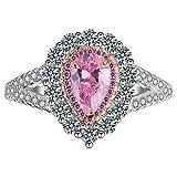 RKWEI Anillos Conjunto De Grupo De Diamantes De Simulación