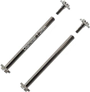 Masar 8 à 30mm Ø 1.2mm 1.3mm 1.5mm Premium Barrettes Barres et vis filetés pour Bracelet de Montre Gold ou Silver 2 pcs