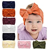 Baby Girl Nylon Headbands Newborn Infant Toddler Bow Hairbands Soft Headwrap Children Hair Accessories (8PACK-MUL1)