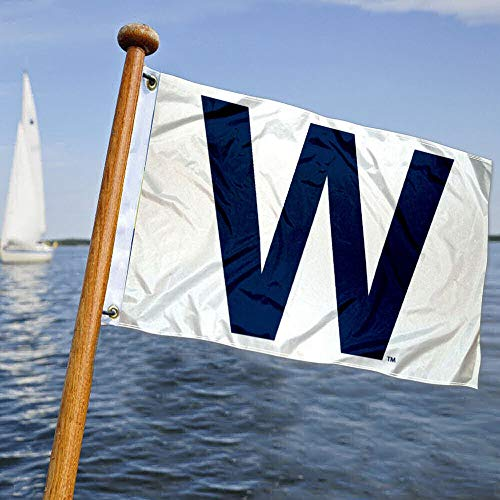 Chicago Baseball W Win Boat and Golf Cart Flag