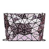 XYAZ Moda mujer gota de agua caos triángulo cadena bolso tendencia hombro mensajero bolso diamante costura mujer bolso variedad bolso,púrpura