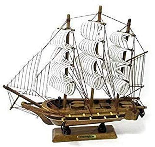 【southanshop】 帆船 模型 手作り 完成品 海賊船 インテリア 装飾 に (.24cm)