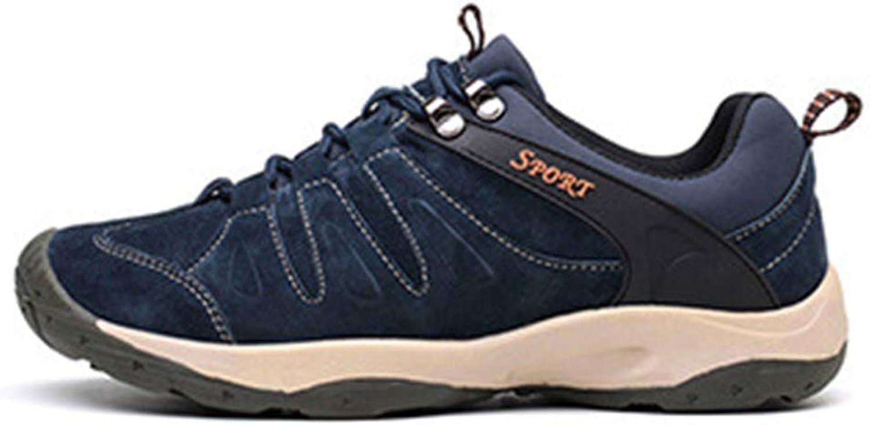 065c3f0309a724 Männer Leder Casual Turnschuhe Frühling Herbst Männlich Männlich Männlich  Walking Komfortable Rutschfeste Schuhe (Farbe Blau