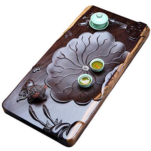 Best Review Of Teapots & Coffee Servers/Tea-For-One Sets Tea Tray Ebony Wood Solid Wood Tea Tray Kun...