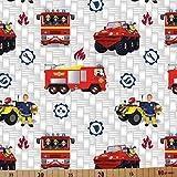 Loopomio Jersey Stoffe Feuerwehrmann Sam Jupiter 1,00m x VB