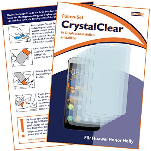 mumbi Schutzfolie kompatibel mit Huawei Honor Holly Folie klar, Displayschutzfolie (6X) - 2