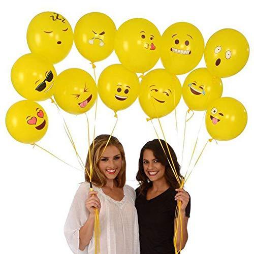 WZRQQ Ballon 30 Emoji Latex Ballonnen 12 Inch Expressie Ballon Bruiloft Verjaardag Feestartikelen Smile Latex