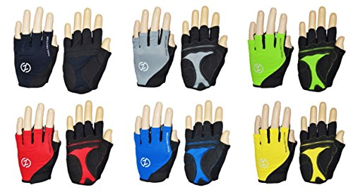 Zero Friction Men's Cycling Gloves, One Size, Black