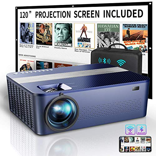 WiFi Bluetooth Native 1080P Projector Includes 120