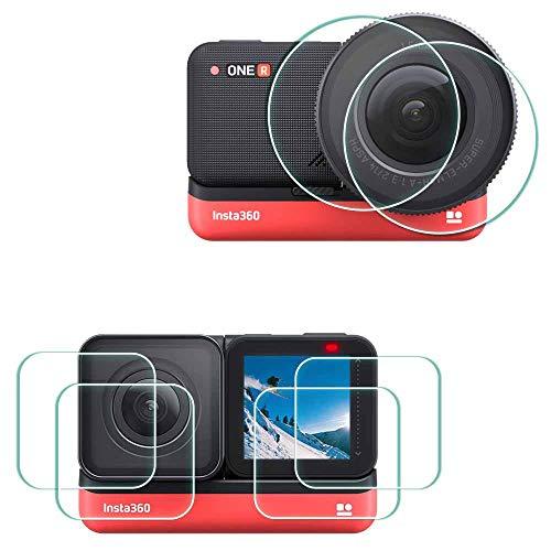 360 One R Bildschirmschutzfolie Schutzfolie für Insta360 One R Twin Edition Kamera,ULBTER 9H Festigkeit Gehärtetes Glas für LCD + 1-inch Edition-Objektiv + 4K Weitwinkelobjektiv