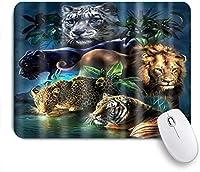 NIESIKKLAマウスパッド 明確な面白い熱帯林の動物テーマ ゲーミング オフィス最適 高級感 おしゃれ 防水 耐久性が良い 滑り止めゴム底 ゲーミングなど適用 用ノートブックコンピュータマウスマット
