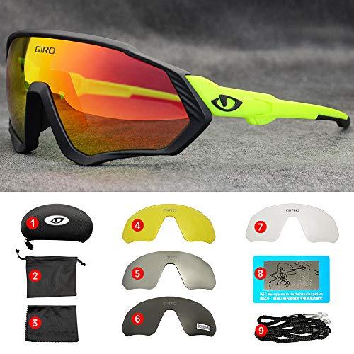 Xixihaha Fahrradbrille MTB Fahrradbrille Damen Brille Laufen Angeln Sport Sonnenbrille Fahrradbrille Männer-07_5 Linse