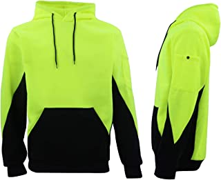 Zmart Australia HI VIS Safety Fleece Pull Over Hoodie Jumper Jacket Workwear Kangaroo Pen Pocket
