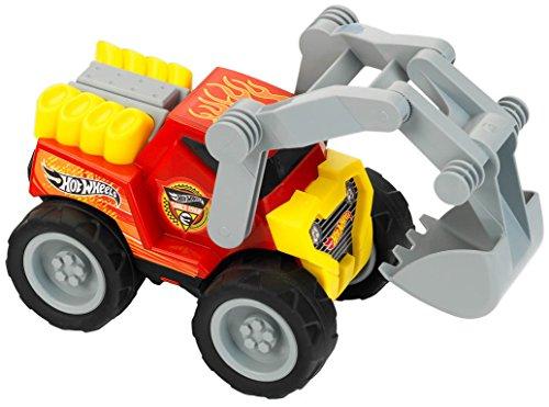 Theo Klein 2445 Hot Wheels Löffelbagger, Maßstab 1:24, Spielzeug