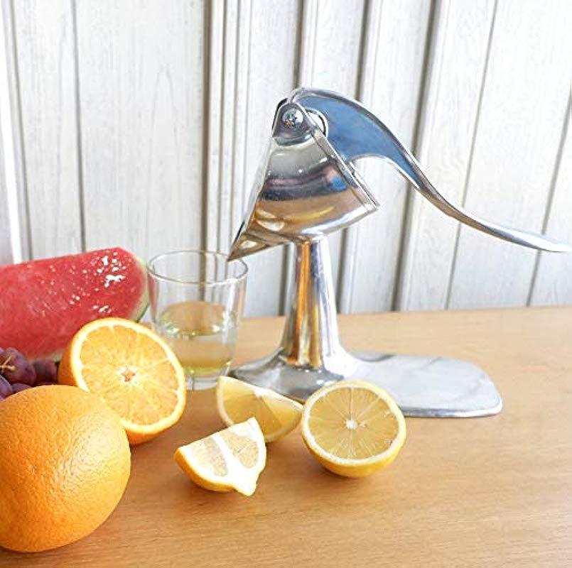 Aluminium Manual Citrus Juicer FREE IceScoop Manual Orange Squeezer Lemon Lime Juicing Hand Press Juicer