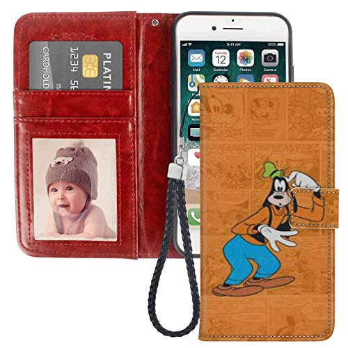 Wallet Case Fit for Apple iPhone 6s Plus and 6 Plus [5.5 Inch] Clubhouse Wallpaper Tvshow Comics Cute Goofy