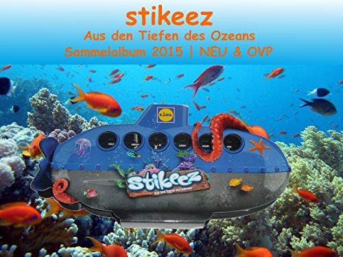 LIDL Stikeez Sammelalbum U-Boot (Serie Ozean) - 24 Figuren inkl. Box
