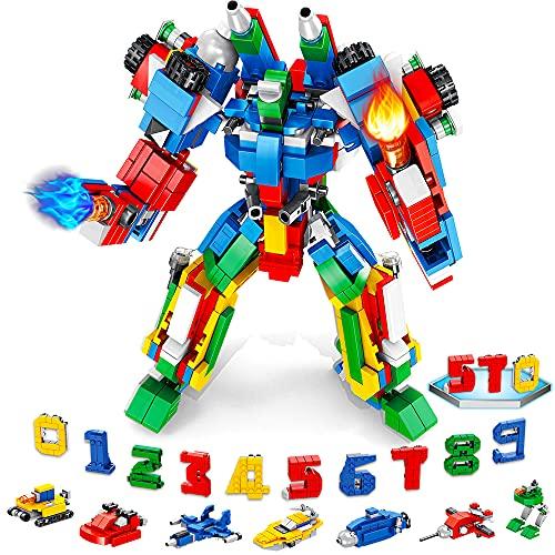 VATOS Giocattoli robotici 570 PC Giocattoli da costruzione 25-in-1 STEM Giocattoli educativi Blocchi di costruzione creativi Giocattoli robotici digitali per bambini e bambine di 5 6 7 8 9 10 anni