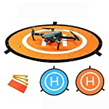Linghuang 110 cm RC Drone Landing Pad Pliable Tapis d'atterrissage pour DJI Mavic Air/Mavic 2 Pro/Zoom/Mavic 2 Phantom pour DJI 2 3 4 Coussinet de Quadricoptères pour Lancement et Décollage