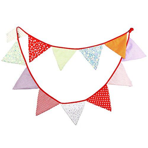 Nikgic Décoration de Noël atmosphère triangle drapeau