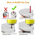 Blow Torch, Kitchen Torch Lighter with Safety Lock, Refillable Butane Gas Adjustable Flame Cooking Torch for, Brulee… 3