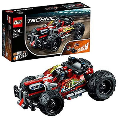 LEGO 42073 Technic BASH Racing Car Toy with Powerful Pull-Back Motor, High-Speed Action Vehicles Building Set