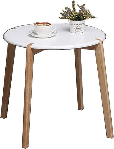 NAN Table d'appoint canapé Blanc - Petite Table Simple Petite Table Ronde Salon Petite Table carrée lit Petite Table (Couleur   Rond)
