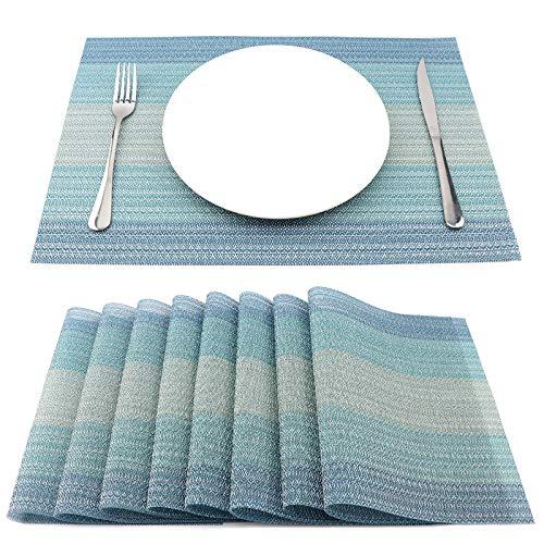SueH Design Lot de 8 Sets de Table 45 * 30 CM Vinyle Tissé Mélange Ethnique de Sarcelles