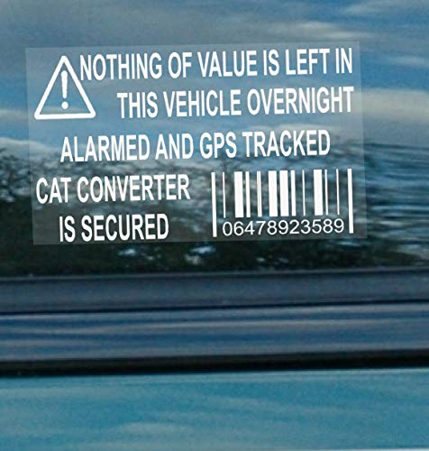 Platinum Place 5 x CAT Catalytic Converter Secured Vehicle Alarm NOTHING OF...