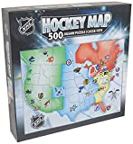 MasterPieces Licensed Standard Puzzles Collection - NHL League Hockey Map 500 Piece Jigsaw Puzzle