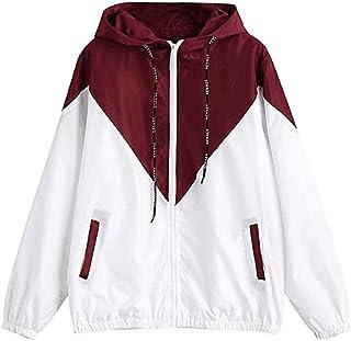 Fossen MuRope Chaquetas de Mujer de Color de Empalme, Sportswear Niña Chic de Manga Larga - Hoodie Abrigos Mujer Invierno ...