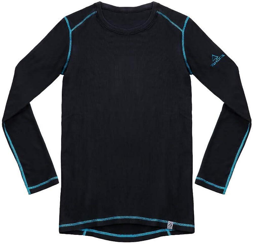 TAKODA Men's Thermal Underwear Shirt Base Layer Fleece Lined Long Sleeve Crew Neck Top