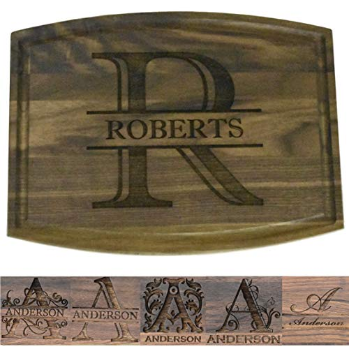 Brew City Engraving - Custom Personalized Engraved Walnut Cutting...