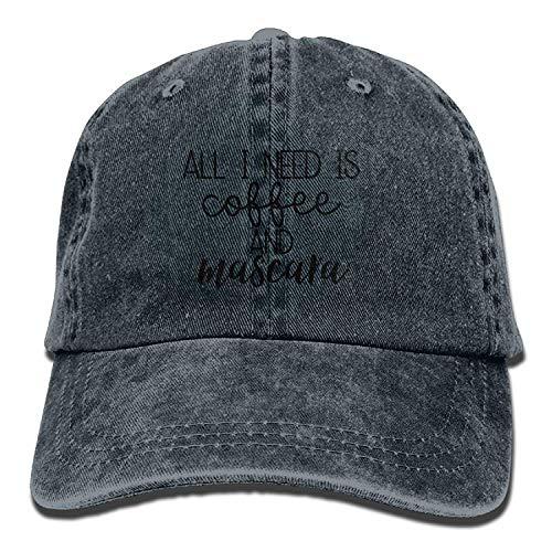 uykjuykj Baseball Caps Hats All I Need is Coffee and Mascara Classic Baseball Caps Unisex Adult...