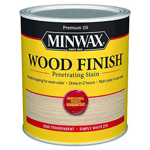 Minwax Wood Finish 700524444, Quart, Simply White