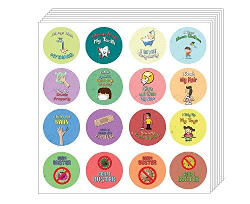 Creanoso Hygiène Rappel Stickers enfants (10 feuilles) - Coronavirus Covid-19 Éducation Protection de la santé Sensibilisation - pour la famille d'enfants Garçons Filles Incitations enfants