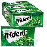 Trident Spearmint Sugar Free Gum, 12 Packs of 14 Pieces (168 Total Pieces) by Mondelez International