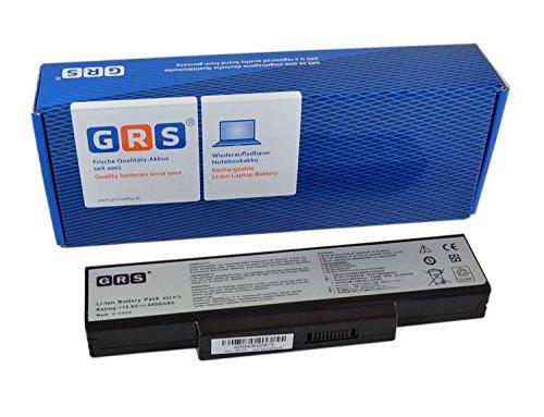 GRS Batterie pour ASUS A72, ASUS K72DR, A72J, N71, K72, K73, remplacé: A32-K72, A32-N71, 70-NXH1B1000Z, 70-NZYB1000Z, 70-NX01B1000Z, 70-NZY1B1000Z, Laptop Batterie 4400mAh, 10.8V