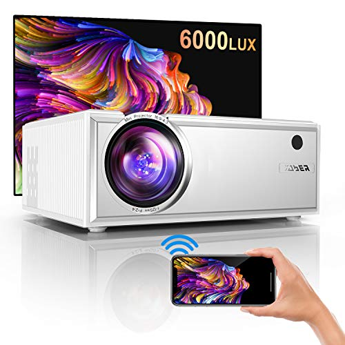 YABER Y61 Mini WiFi Projector With Projection Screen, 6000 Lumen Mini...