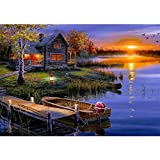 ZMGYA 1000 Piece Wooden Jigsaw Puzzle Landscape-300Wooden Jigsaw PuzzlesIdeal for Relaxation,...