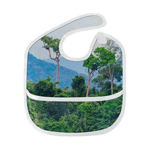 Zemivs Baberos de lujo Amazon Primeval Jungle Mancha suave personalizada Bebé alimentación Dribble Drool Baberos Eructo para bebés 6-24 meses Amazon Primeval Jungle