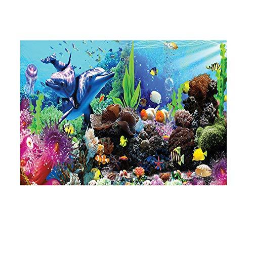 Hintergrund für Aquarium, Dekoration, Poster, Aufkleber, PVC, selbstklebend, Unterwasserwelt, 122 x 50 cm