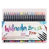 GHKT Conjunto de Pluma Acuarela 20 Color Que no penetren el rotulador de Color Boceto Pluma de la Escritura for Colorear Libro (Color : Color)