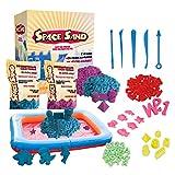 Leo & Emma Space Sand 1.8 kg con 50 Pezzi Forme, Numeri, Lettere, Pezzi di Castello, Strumento di modellazione, Sabbia Magica cinetica, Testato TÜV (0.9kg Viola e 0.9kg Blu)