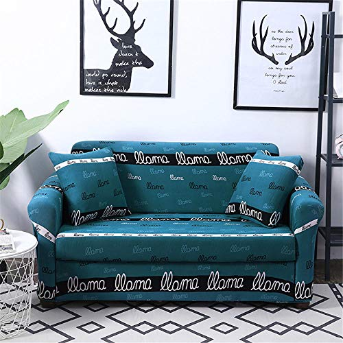 Fundas Sofas 3 y 2 Plazas Ajustables Azul Fundas Sofá,Universal Funda Cubre Sofas Ajustables, Antideslizante Protector Cubierta de Muebles(145-185cm)