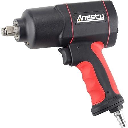 """Anesty - Llave de impacto neumática 1/2"""", 1700 Nm, atornilladora de impacto de aire comprimido, doble martillo para trabajos grandes"""