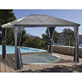 Sojag Verona Sun Shelter, 10' x 14', Charcoal (314-8160734)
